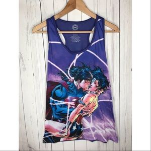 DC Comics Size Small Superman Wonder Woman Top